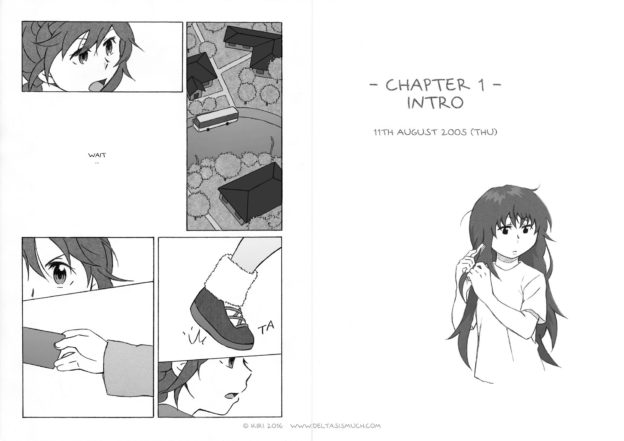title page of the webcomic chapter