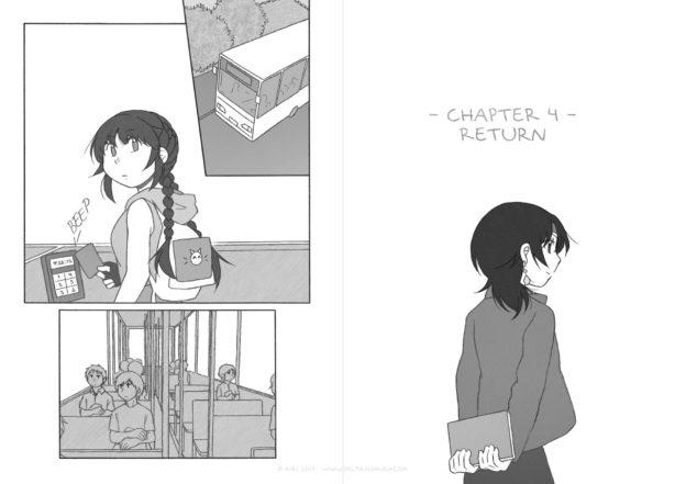 """webcomic """"ΔS"""">> chapter 4, bus"""